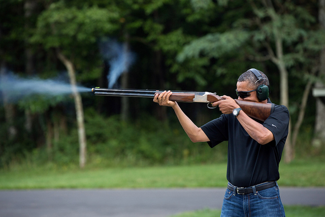 Obama Skeet Shooting 02-03-13