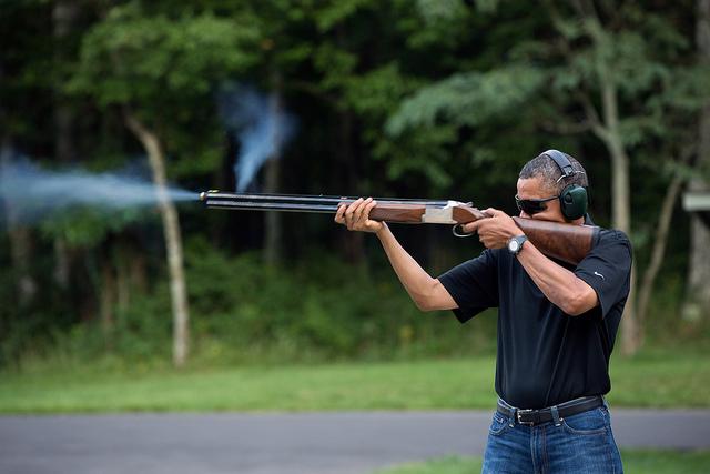 Obama Skeet Shooting 02-03-13