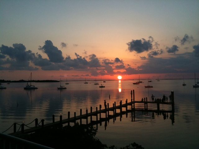 Sunset over Key Largo 03-31-13