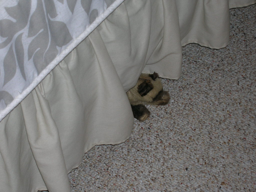 """I refuse to hide under the bed."""