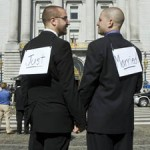 Gay marriage couple