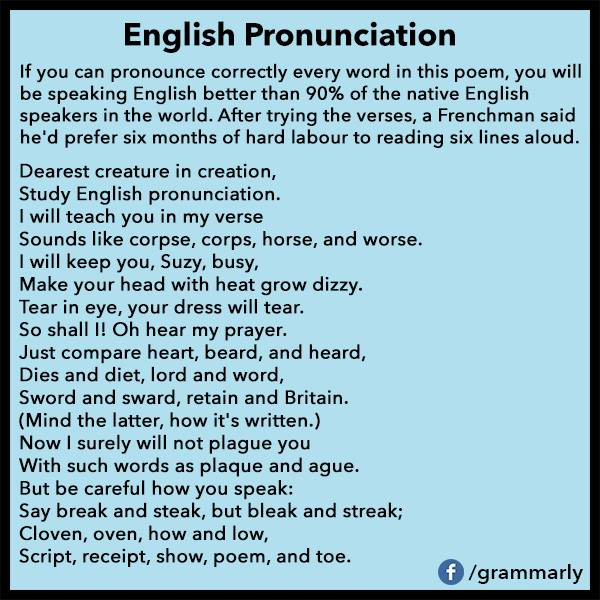 English Pronunciation 09-05-13
