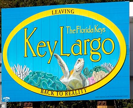 Key Largo back to reality