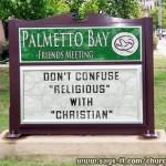 Religion vs. Christian 07-07-12