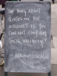 Abe Lincoln Internet quote 10-08-13