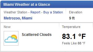 Miami Weather 12-13-13