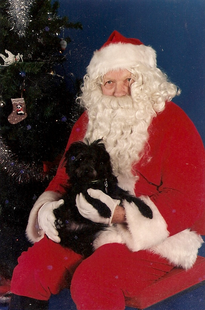 Sam with Santa, 1989