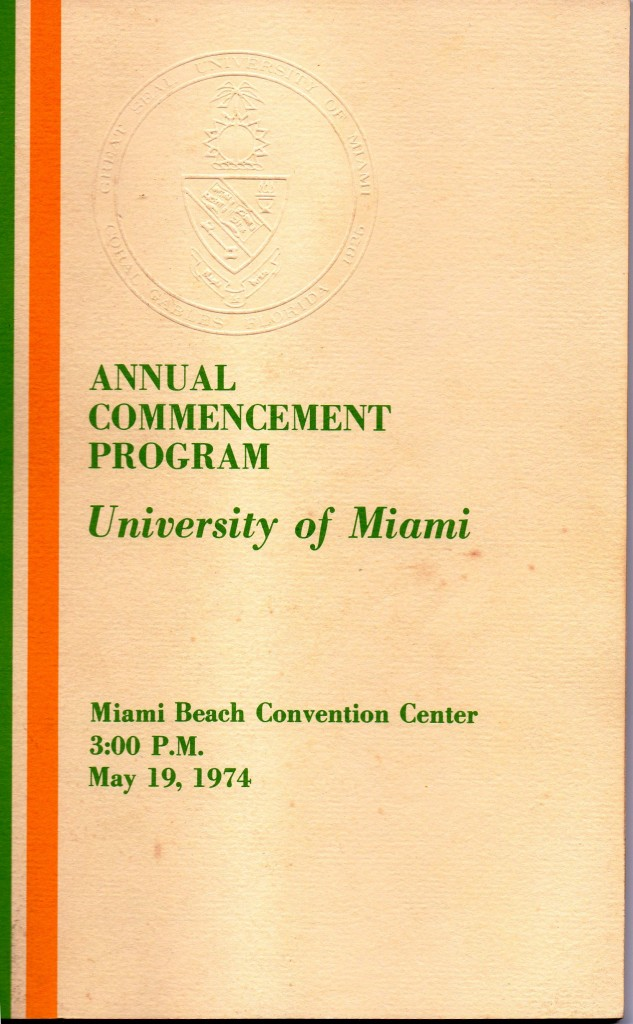 UM Commencement Cover 05-19-74