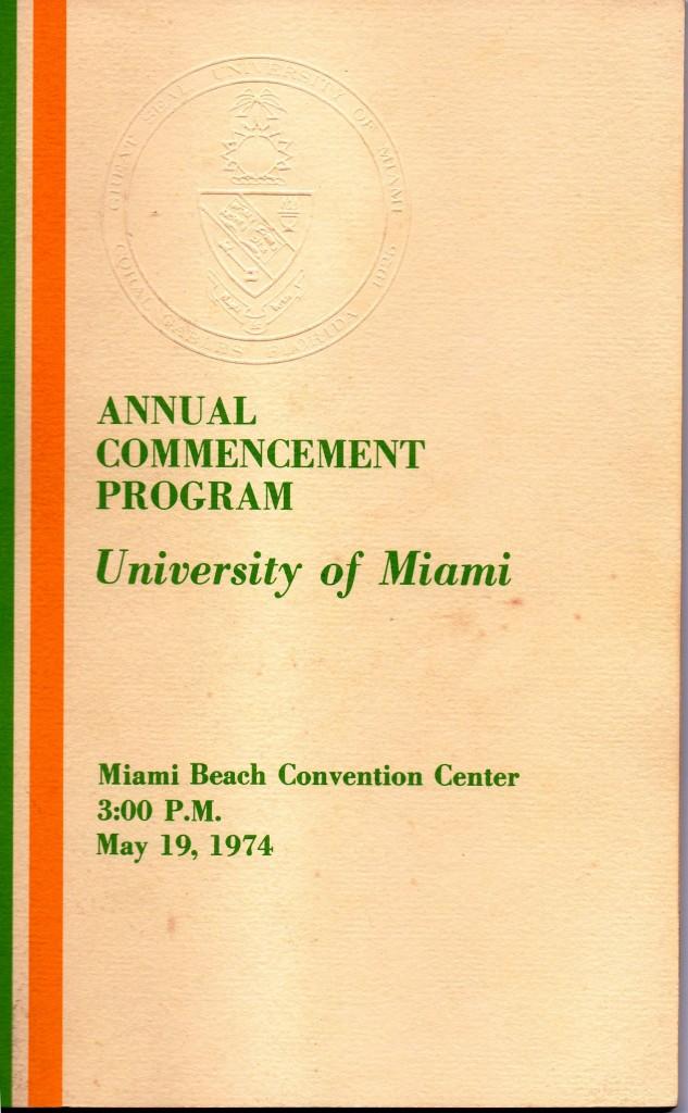UM Commencement Cover 05-19-74