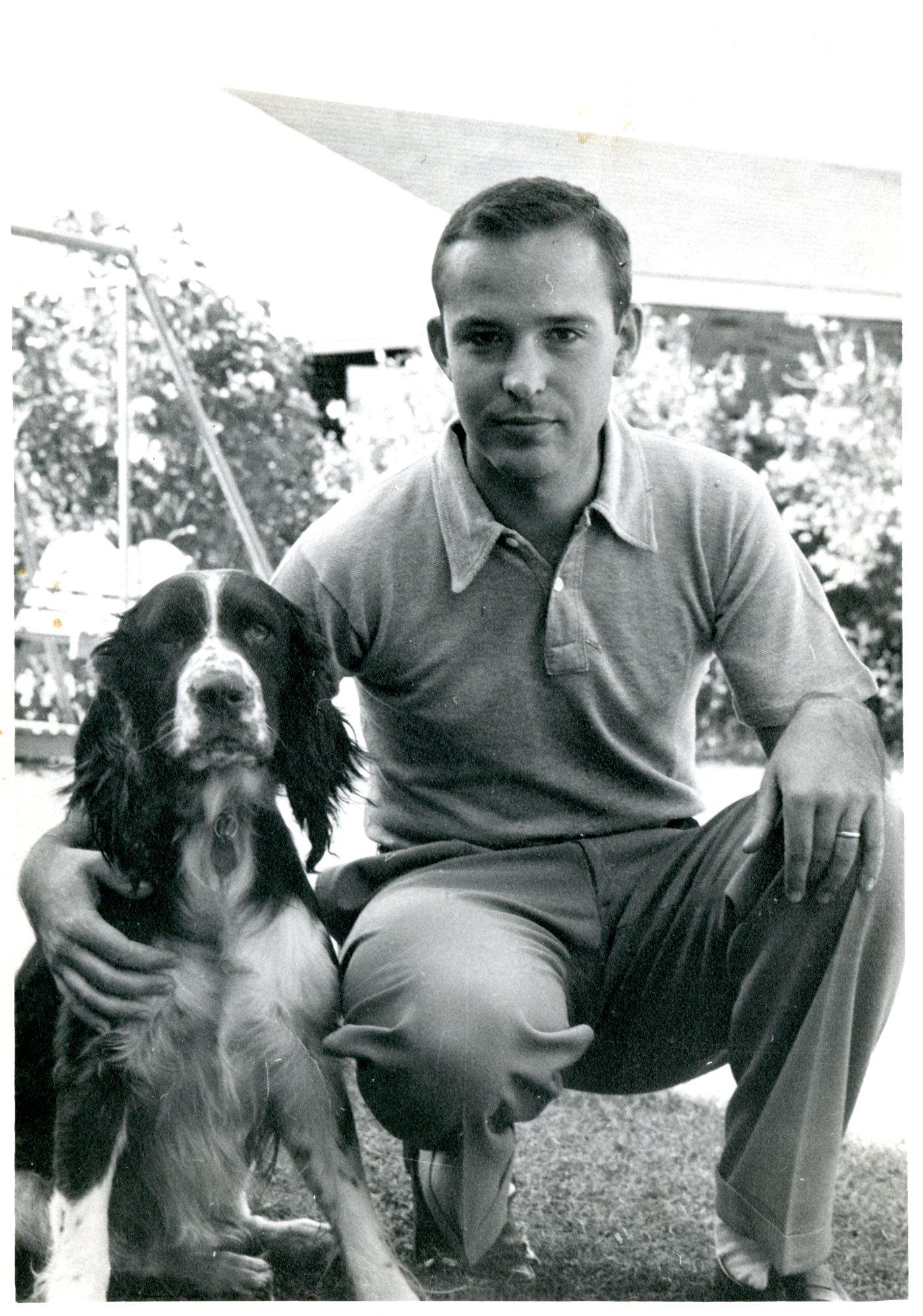 Dad with Tupper circa 1954