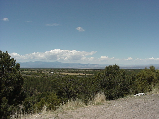 Jemez Mountains from Truchas Rest Stop 07-03-2000