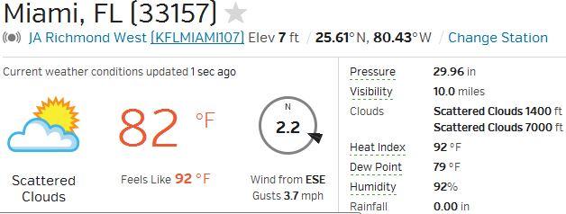 Miami Weather 08-03-14