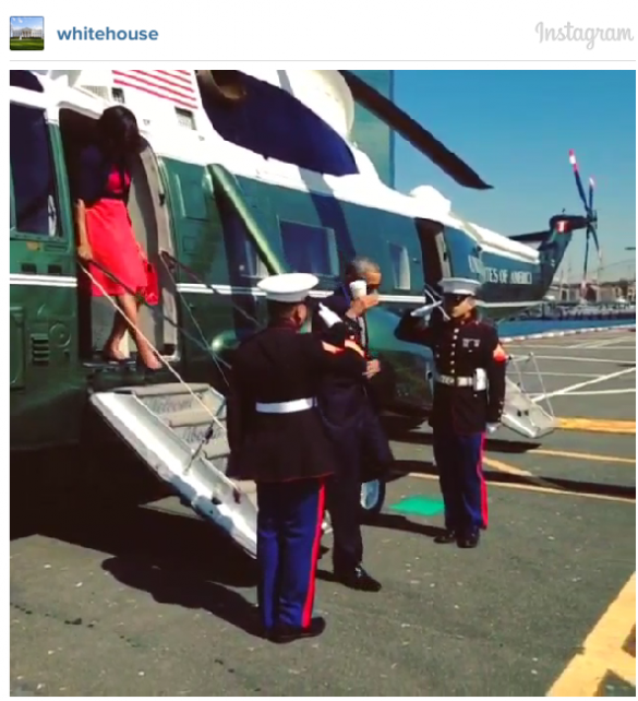 Obama coffee salute 09-24-14