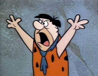 Fred Flintstone Angry