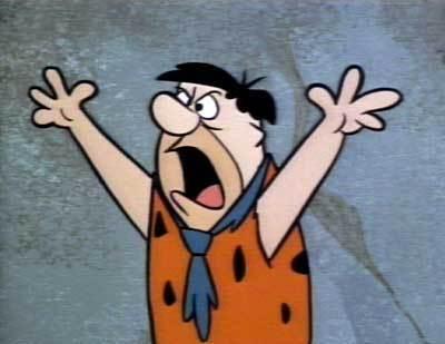 Fred Flintstone Angry