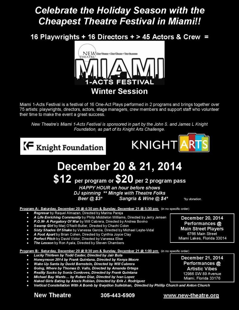 Miami 1-Acts Winter 2014