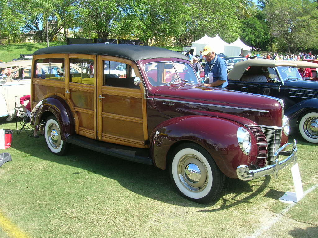 1940 Ford Super Deluxe station wagon.