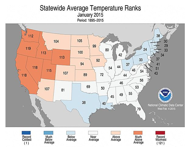 Statewide Average Temps Jan 2015 02-23-15