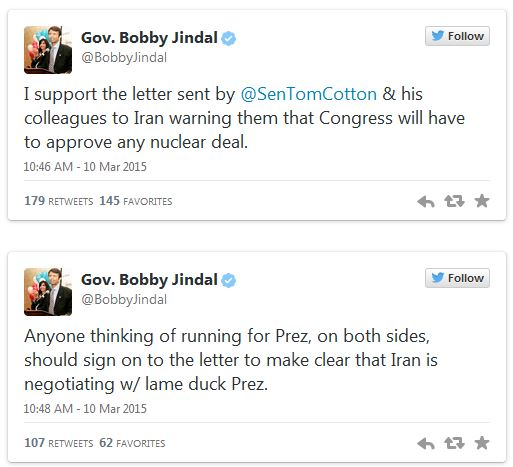 Jindal Tweets 03-11-15