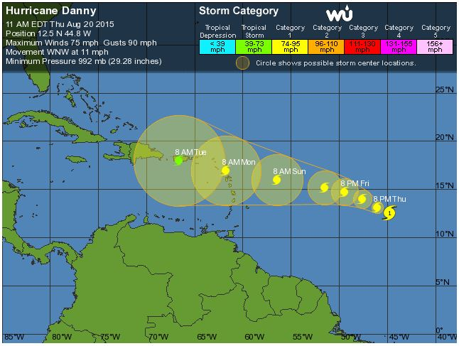 Hurricane Danny 08-20-15