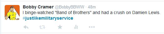 Just Like Military Service Tweet 09-08-15
