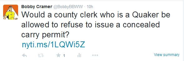 Quaker County Clerk Tweet 09-02-15