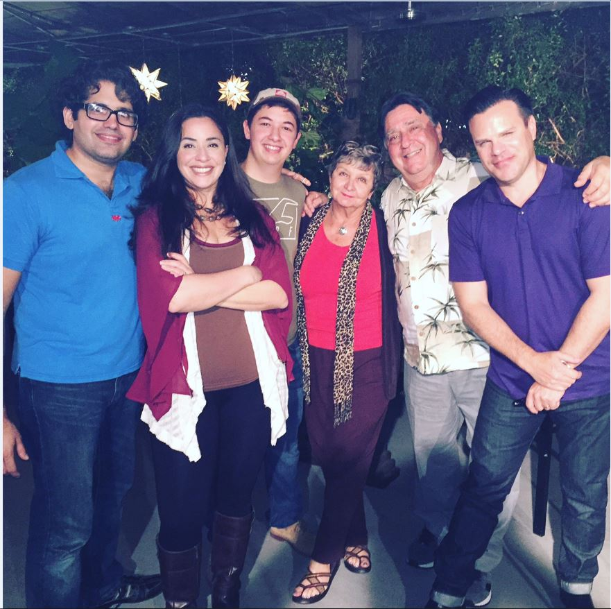 "The cast of ""All Together Now"" Carlos Alayeto, Nicole Quintana, Jonathan Mitzenmacher, Joanne Marsic, Joel Kolker, Kenneth Averett-Clark - December 2015"