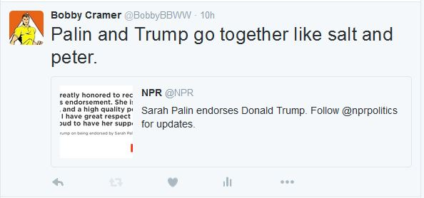 Palin-Trump Tweet 01-20-16