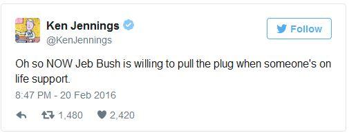 Jeb Pulls Plug