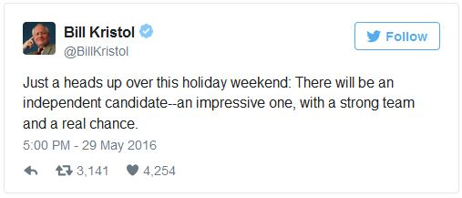 Kristol 3rd Party Tweet 05-31-16